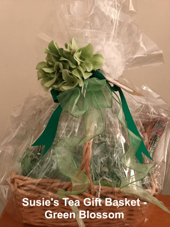 Gift Tea Basket by Susie - Green Blossom