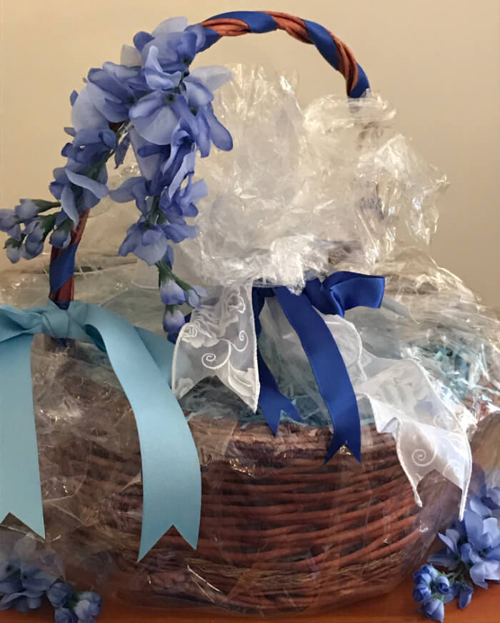 Tea Gift Basket by Susie - Blue Blossom