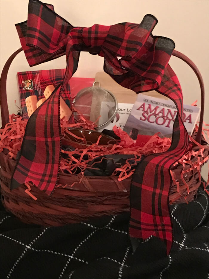 Tea Gift Basket by Susie - Outlandish Highlander With Kilt and Goodies (Unwrapped)