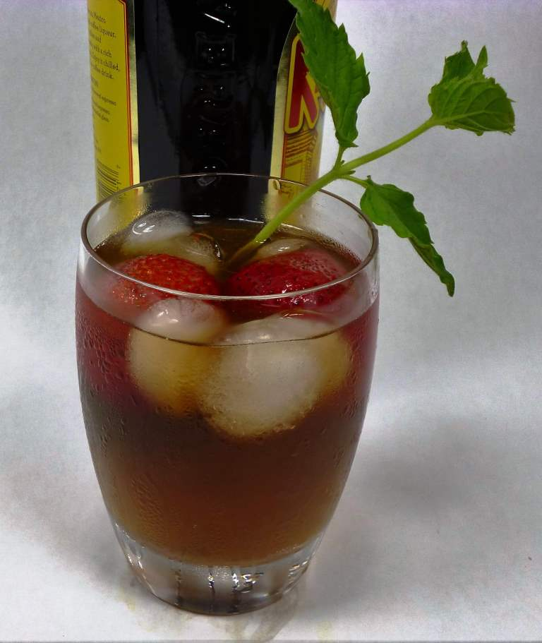 Chai Organic Tea  - Embassy House Chai Iced With Strawberries, Mint and Kahlua