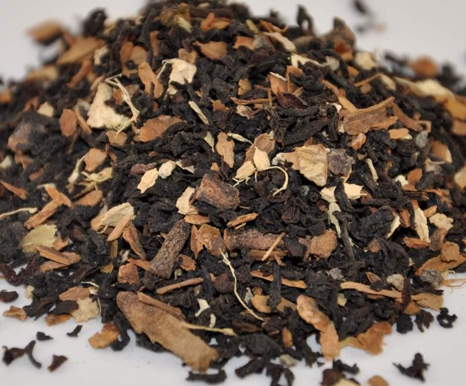 Chai Organic Tea  - Black Assam Organic Loose Tea with Cinnamon, Ginger, Clove, Cardamom, and Black Pepper