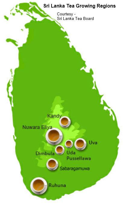 Ceylon Tea - Growing Regions