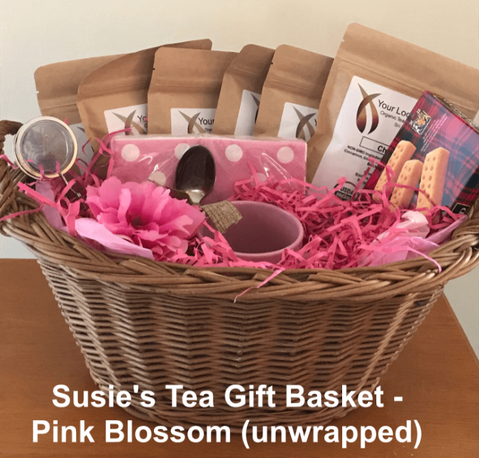 Tea Gift Basket by Susie - Pink Blossom
