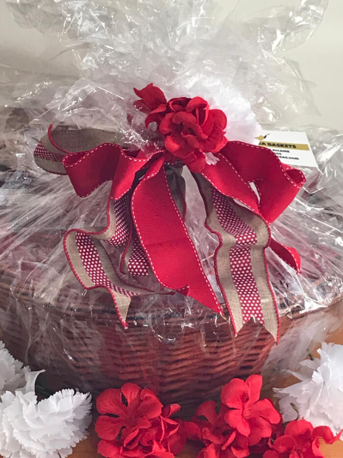Tea Gift Basket by Susie - Red Blossom