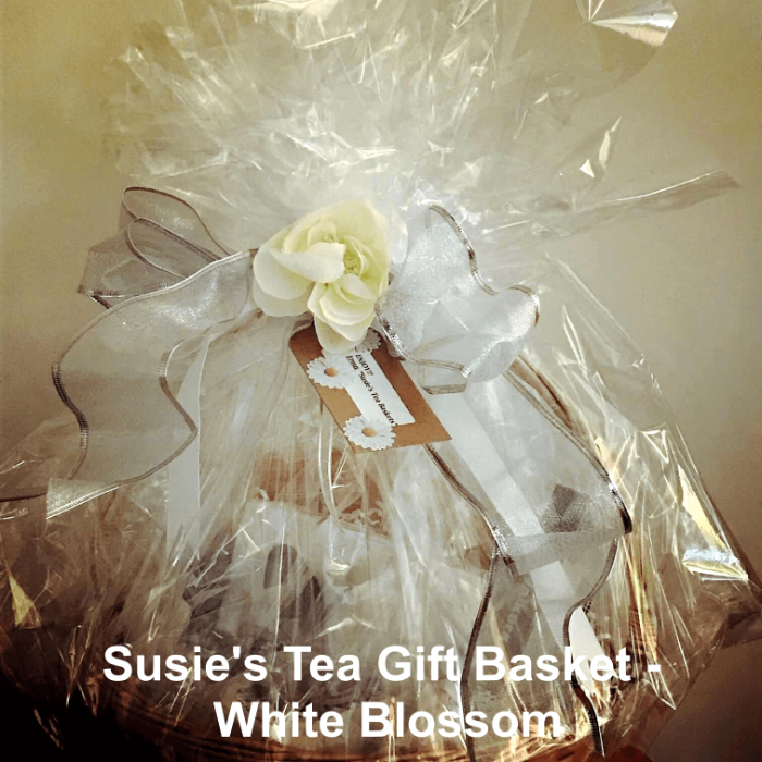 Tea Gift Basket by Susie - White Blossom