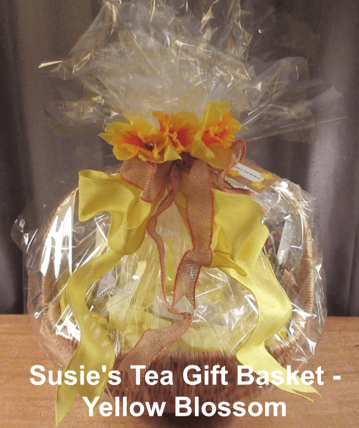 Tea Gift Basket by Susie - Yellow Blossom