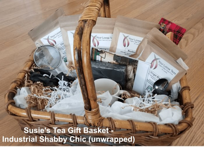 Tea Gift Basket by Susie - Industrial Shabby Chic